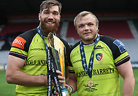 Leicester Tigers&rsquo; Graham Kitchener and Leicester Tigers&rsquo; Luke Hamilton <br /> <br /> Photographer Rachel Holborn/CameraSport<br /> <br /> Anglo-Welsh Cup Final - Exeter Chiefs v Leicester Tigers - Sunday 19th March 2017 - The Stoop - London<br /> <br /> World Copyright &copy; 2017 CameraSport. All rights reserved. 43 Linden Ave. Countesthorpe. Leicester. England. LE8 5PG - Tel: +44 (0) 116 277 4147 - admin@camerasport.com - www.camerasport.com