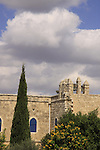 Israel, Shephelah, the Salesian Monastery at Beit Gemal built in 1873, the bell tower