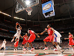 02 APR 2007:  Al Horford (42) of Florida goes shoots the ball during  the University of Florida vs Ohio State University championship game of the NCAA Men's Division I Basketball Final Four held at the Georgia Dome in Atlanta, GA. Florida defeated Ohio State 84-75 to win the national title. Rich Clarkson/NCAA Photos