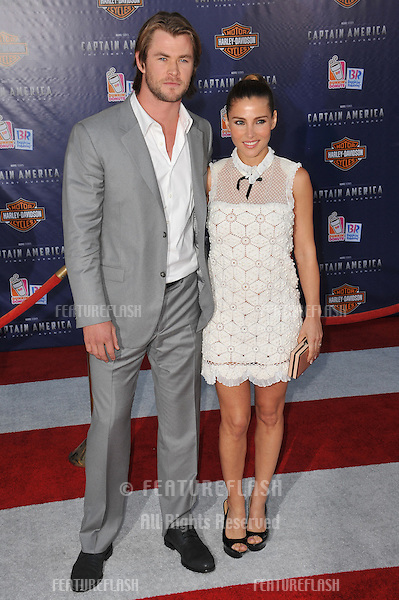 """Australian actor Chris Hemsworth & wife Elsa Pataky at the premiere of """"Captain America: The First Avenger"""" at the El Capitan Theatre, Hollywood..July 19, 2011  Los Angeles, CA.Picture: Paul Smith / Featureflash"""