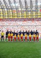 FUSSBALL  EUROPAMEISTERSCHAFT 2012   VORRUNDE Spanien - Italien            10.06.2012 Aufstellung der italienischen Mannschaft