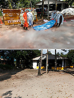 Khao Lak, north of Phuket,Thailand, was severley hit by the Tsunami that struck Asia 26.12.2004. Thousands died when the waves hit without warning. .Temple Bang Munag was one of several temples used as a collection and identification  center for bodies. It is now a quiet temple with 14 monks.