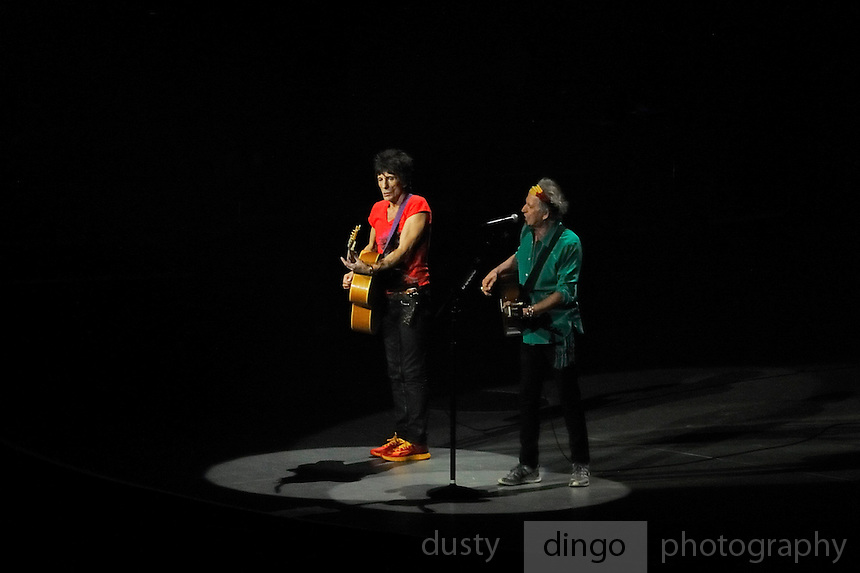 Ronnie Wood and Keith Richards. Rolling Stones 14 on Fire tour. Perth, Western Australia