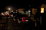 With little outside lighting, the Rancho Garcia trailer park, is dark after sunset in Thermal, Calif., March 8, 2012.