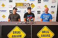 (Tuesday, March 16, 2010) Joel Parkinson (AUS), Bede Durbidge (AUS) and Mark Lane (AUS) CEO of Surfing Western Australia at the Lexus Centre for contest press conference. Surfer's Point, Margaret River, Western Australia. The 6 Star Prime Drug Aware Pro at Margaret River continued today with the Round of 48 Women.  Photo: joliphotos.com