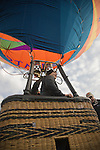 Hot air balloons dot the landscape at the 2008 Shenandoah Valley Hot Air Balloon Festival at Historic Long Branch in Millwood, Virginia.