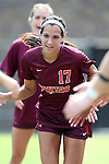 29 September 2013: Virginia Tech's Taylor Antolino. The Duke University Blue Devils hosted the Virginia Tech University Hokies at Koskinen Stadium in Durham, NC in a 2013 NCAA Division I Women's Soccer match. The game ended in a 1-1 tie after two overtimes.