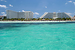 A resort hotel on the beach of Cancun, Mexico