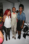 K MIchelle, Edwing D'Angelo and Toccara Jones  at Edwing D'Angelo Spring Summer 2014 Presentation Held at Studio 450, NY