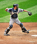 28 May 2011: San Diego Padres catcher Kyle Phillips in action against the Washington Nationals at Nationals Park in Washington, District of Columbia. The Padres defeated the Nationals 2-1 to even up their 3-game series. Mandatory Credit: Ed Wolfstein Photo