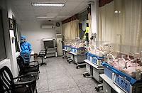 A nursing room for baby pandas at Chengdu Panda Base in Sichuan province, China. 25-Jul-2010