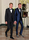 Bruce Bastian, Co-Founder, WordPerfect Corporation, left, and Clinton Ford, right, arrive for the State Dinner in honor of Prime Minister Trudeau and Mrs. Sophie Gr&eacute;goire Trudeau of Canada at the White House in Washington, DC on Thursday, March 10, 2016.<br /> Credit: Ron Sachs / Pool via CNP