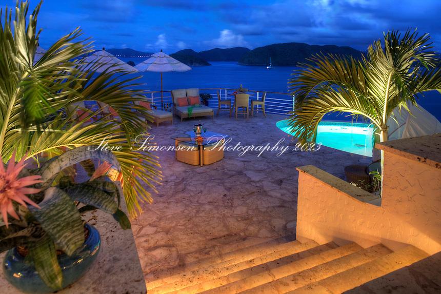 Cliff House, Peter Bay.Virgin Islands National Park.St. John, Virgin Islands
