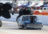 Apr 26, 2014; Baytown, TX, USA; NHRA pro mod driver Steven Whiteley during qualifying for the Spring Nationals at Royal Purple Raceway. Mandatory Credit: Mark J. Rebilas-