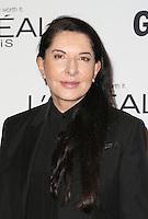 LOS ANGELES, CA - NOVEMBER 14: Marina Abramovic at  Glamour's Women Of The Year 2016 at NeueHouse Hollywood on November 14, 2016 in Los Angeles, California. Credit: Faye Sadou/MediaPunch