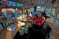 Biologists scope out bird migration from restored city bus along the Olympic Peninsula - Olympic National Park - Washington State