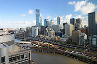 Melbourne cityscape from high.<br /> <br /> Larger JPEG + TIFF images available by contacting use through our contact page at :..www.photography4business.com