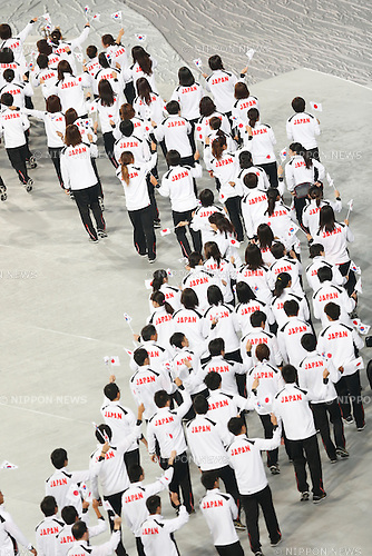 Japan Delegation (JPN), <br /> SEPTEMBER 19, 2014 - Opening Ceremony : <br /> Opening Ceremony <br /> at Incheon Asiad Main Stadium <br /> during the 2014 Incheon Asian Games in Incheon, South Korea. <br /> (Photo by AFLO SPORT) [1180]