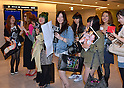 """May 8, 2012, Narita, Japan - Some 250 Japanese fans of Lady Gaga wait for the arrival of the American pop singer and song writer at Narita Airport, east of Tokyo, on Tuesday, May 8, 2012. ..Lady Gaga was in Japan on a """"Lady Gaga/The Born This Way Ball"""" world tour. It was her sixth visit to Japan where a teacup and saucer, marked with her lipstick and bearing the Japanese message We pray for Japan along with the stars autograph, has fetched more than $75,000 at auction.(Photo by Natsuki Sakai/AFLO) AYF -mis-."""