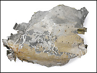 BNPS.co.uk (01202) 558833<br /> Picture: Bonhams/BNPS<br /> <br /> ****Must use full byline****<br /> <br /> Wreckage from a German fighter plane flown to Britain by Hitler's right hand man in a bizarre attempt to broker a peace deal in 1941 has emerged for sale for &pound;3,000.<br /> <br /> The section of fuselage was salvaged from a farmer's field where the Messerschmitt plane, piloted by Nazi party deputy Rudolf Hess, had crashed.<br /> <br /> The Deputy Fuhrer had flown alone from Germany to Britain on May 10 1941 in the hope of bringing Britain to the negotiating table for secret peace talks.<br /> <br /> When he got dangerously low on fuel he bailed out, parachuting into a field at Floors Farm in Eaglesham, just south of Glasgow, while his plane crashed in the neighbouring field.<br /> <br /> Dave McLean, the foreman at Floors Farm, quickly captured Hess, who identified himself as Captain Albert Horn and had suffered a broken ankle while landing.<br /> <br /> After handing him over to the police, Mr McLean cycled to the crash site and, knowing the plane would soon be recovered, hid several parts from the wreckage in nearby bushes.<br /> <br /> He retrieved them later using a tractor and gave a section of the plane's fuselage to 18-year-old farm hand Stanley Boyd as a souvenir.<br /> <br /> Mr Boyd sold the fuselage in the 1960s to the former assistant secretary Battle of Britain Association, who then passed it to The War Museum.<br /> <br /> It is tipped to fetch &pound;3,000 when it goes under the hammer at Bonhams New York on June 5.