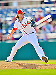 4 March 2012: Washington Nationals pitcher Drew Storen on the mound against the Houston Astros at Space Coast Stadium in Viera, Florida. The Astros defeated the Nationals 10-2 in Grapefruit League action. Mandatory Credit: Ed Wolfstein Photo