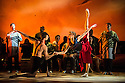 Edinburgh, UK. 10.08.2014.  INALA, makes its Wrold Premiere at the Edinburgh Playhouse as part of the Edinburgh International Festival. Choreographed by Mark Baldwin, and produced by the Sisters Grimm, the production features dancers from Rambert and the Royal Ballet, with live, on stage, music from LadySmith Black Mambazo, which was composed in collaboration between Ladysmith and Ella Spira. Picture shows: Camille Bracher and Mark James Biocca. Photograph © Jane Hobson.