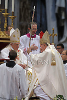 Archbishop Pietro Parolin,Pope Francis named Archbishop Pietro Parolin to succeed Cardinal Tarcisio Bertone as the Holy See&rsquo;s Secretary of State.<br /> Pope Benedict XVI attends the ordination ceremony of five new bishops at St Peter's Basilica at the Vatican on September 12, 2009
