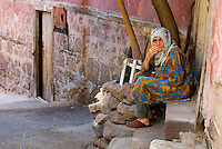 Old Turkish woman in the street of Ankara