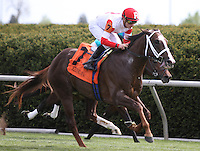 Coalport and Julien Leparoux win the 7th race.  April 13, 2012.