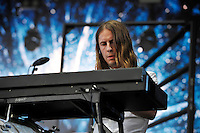 LONDON, ENGLAND - JULY 17: Orri P&aacute;ll D&yacute;rason of 'Sigur R&oacute;s' performing at Citadel, Victoria Park on July 17, 2016 in London, England.<br /> CAP/MAR<br /> &copy;MAR/Capital Pictures /MediaPunch ***NORTH AND SOUTH AMERICAS ONLY***