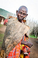 A Maasai woman whose family held a circumcision ceremony.