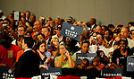 LAURA FONG | SUMMER KENT STATER Obama supporters of all ages came out to see the President at the John S. Knight Center Wednesday.