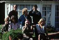 Los Angeles, CA, Summer 1982. The Osterman Weekend is a 1983 suspense thriller film directed by Sam Peckinpah. The film stars Rutger Hauer, John Hurt, Burt Lancaster, Dennis Hopper, Meg Foster and Craig T. Nelson. It was Peckinpah's final film before his death in 1984. Garden scene with most of the actors.