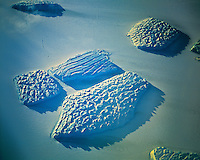 Icebergs Caught in Continental Ice Shelf, Shackleton Ice Shelf, Queen Mary Land, .Antarctica