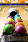Bowling ball and line - KUKUBARA - Bowling Center & Hotel