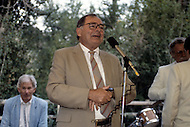 Ketchum, Idaho, U.S.A, August, 1989. Gregory Hemingway at his brother's second wedding ceremony.