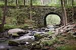 The Keystone Bridge spans the Middle Branch of the Swift River, in Quabbin Reserve, New Salem, MA, USA