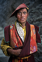 Tibetan monk in kandkze, Kham, 2005