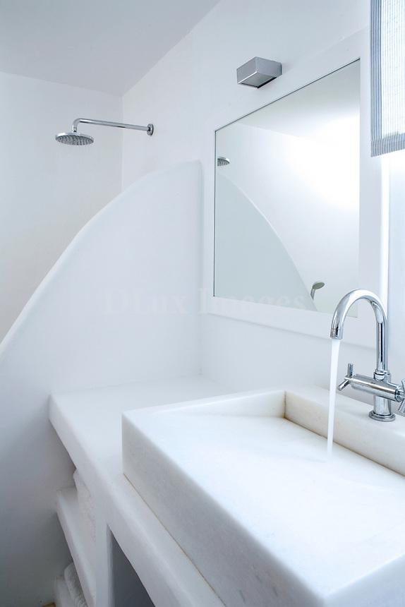 cycladic white bathroom