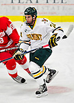 9 January 2011: University of Vermont Catamount forward Tobias Nilsson-Roos, a Sophomore from Malmo, Sweden, in action against the Boston University Terriers at Gutterson Fieldhouse in Burlington, Vermont. The Catamounts fell to the Terriers 4-2 in Hockey East play. Mandatory Credit: Ed Wolfstein Photo