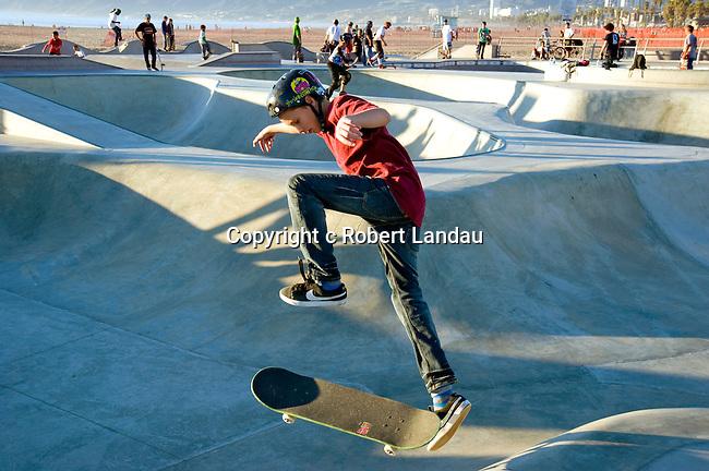 Skate board park at Venice Beach