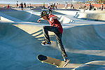 Skate board park at Venice Beach