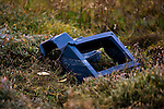 Discarded TV, washed up on the shores of Bull Island. .Bull Island is a UNESCO protected biosphere reserve in the Northern suburbs of Dublin. It features two golf clubs, and Dollymount beach, used for kitesurfing and other outdoor activities. Wildlife includes seals and bird life.