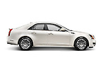 2011 Cadillac CTS AWD Sedan isolated car on white background with clipping path