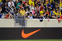Nike. The men's national team of the United States (USA) was defeated by Ecuador (ECU) 1-0 during an international friendly at Red Bull Arena in Harrison, NJ, on October 11, 2011.