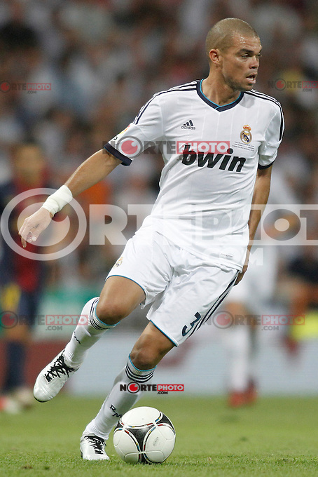 Real Madrid's  Pepe during Super Copa of Spain on Agost 29th 2012...Photo:  (ALTERPHOTOS/Ricky) Super Cup match. August 29, 2012. <br />