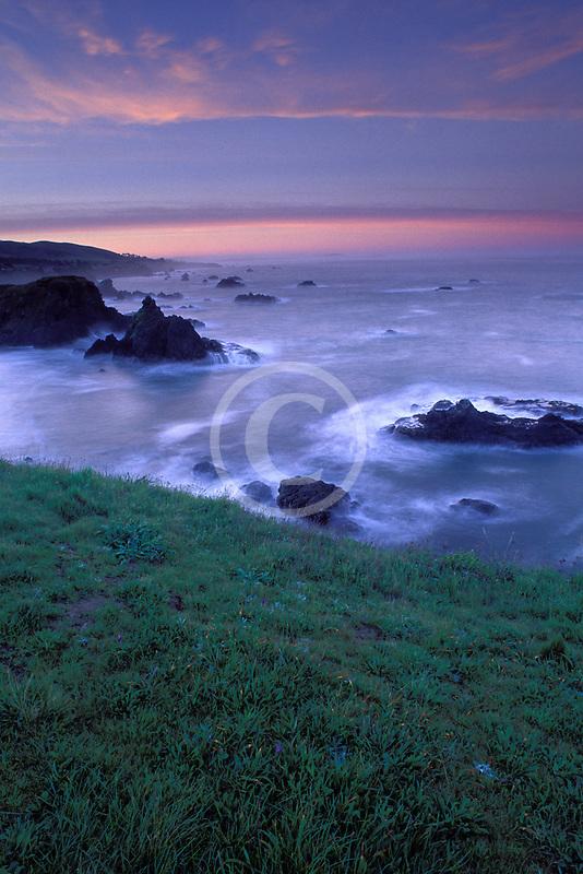 California, Sonoma County, Dawn on Sonoma Coast