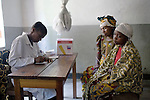 BUKAVU, DEMOCRATIC REPUBLIC OF CONGO - OCTOBER 31: A doctor interviews an unidentified woman and her daughter on October 31, 2007 inside a clinic in rural Bushushu, DRC. Many of the women visiting the clinic has been raped and abused by rebels and government soldiers. Today a Doctor and a nurse visit from Panzi hospital in Bukavu to interview and refer woman, if needed. The DRC conflict has seen an unprecedented high rate of rape and sexual abuse of women. The culprits are both different rebel groups and government soldiers and very few are punished. About 27,000 sexual assaults were reported in South Kivu province alone in 2006, according to the United Nations. (Photo by Per-Anders Pettersson)