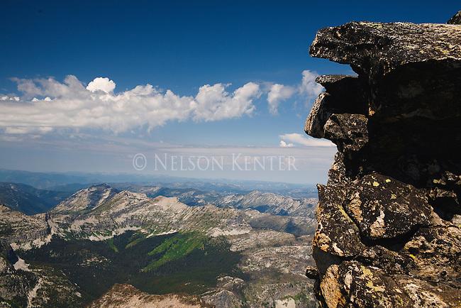 The rocky summit of El Capitan Peak in the Bitterroot Mountains in western Montana