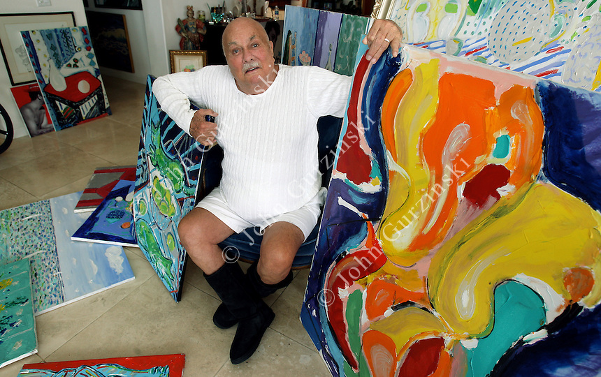 Artist and Actor Tony Curtis sits surrounded by his paintings Thursday ...: lasvegasphotography.photoshelter.com/image/I0000C3M5ugvqkeE